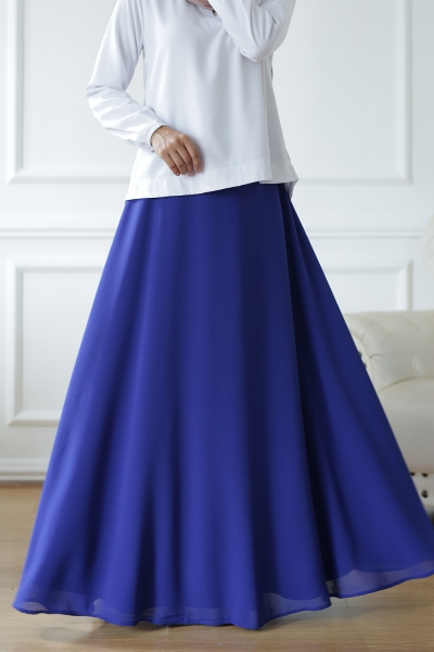 Exclusive Chiffon Flare Royal Blue
